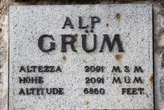 Grum Platte der Alpe Lizenzfreies Stockfoto