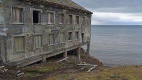 Grumant settlement. Svalbard Stock Image
