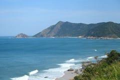 Grumari海滩在里约热内卢,巴西西方区域  库存图片
