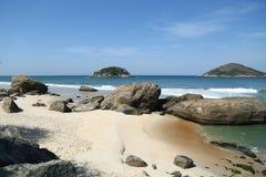 Grumari海滩在里约热内卢,巴西西方区域  图库摄影