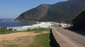 Grumari海滩-里约热内卢 免版税库存图片
