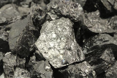 Grumi del fondo del carbone Fotografie Stock Libere da Diritti
