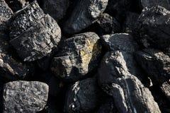 Grumi del grande carbone Fotografia Stock