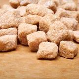 Grumi dello zucchero di Brown Immagini Stock Libere da Diritti