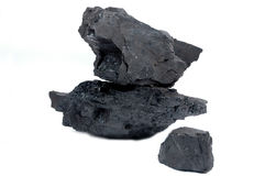 Grumi di carbone Fotografia Stock