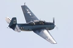 Grumman Avenger. Rear quarter view of Grumman Avenger torpedo bomber (type flown by the first President Bush during WWII Royalty Free Stock Photography