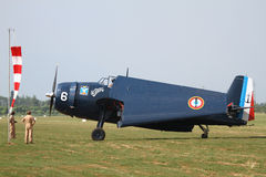 Grumman Avenger - at La Comina 100 anniversary Stock Photo