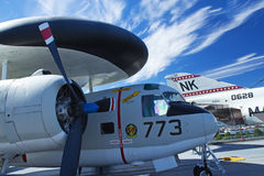 Grumman E-1B Tracer at Interpid Museum. NEW YORK - SEPT 19: Grumman E-1B Tracerat Intrepid Sea, Air & Space Museum since 1982 has become a national icon. More Stock Image