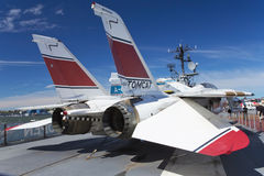 Grumman F-14 Tomcat przy Interpid muzeum fotografia royalty free