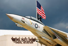 Grumman F 14. An F14 displayed outside of the National Museum of Naval Aviation. USA Stock Photo