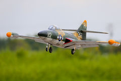 Grumman F9F Panther radio control jet plane royalty free stock images