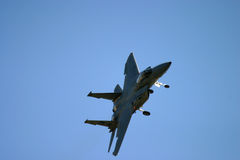 Grumman F-14 Tomcat flying Stock Image