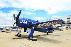 Grumman F8F Bearcat was showed Stock Photo