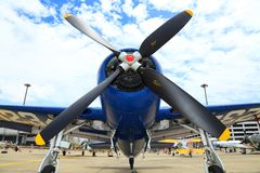 Grumman F8F Bearcat was showed Stock Photos