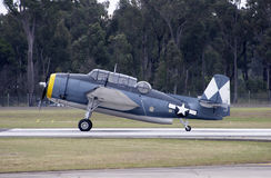Grumman TBM-3R Avenger. Grumman Avenger on the runway Royalty Free Stock Images