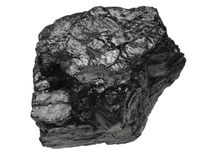 Grumo del carbone immagine stock