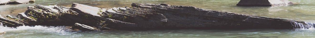 Grumo di argillite lungo il fiume fotografie stock