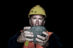 Grumo di carbone Immagini Stock