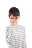 Grumpy  ASL Sign language communication Royalty Free Stock Photo