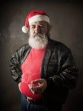 Grumpy badass Santa Claus Royalty Free Stock Images
