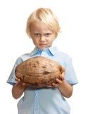 grumpy barn för pojke royaltyfri foto