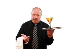 Grumpy Bartender Royalty Free Stock Photography