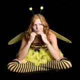 Grumpy Bee Costume stock photos