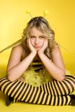 Grumpy Bee Costume Royalty Free Stock Images