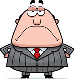 Grumpy Boss. A cartoon boss with a grumpy expression Stock Photo