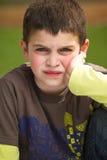Grumpy Boy stock photos
