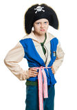 Grumpy boy pirate Royalty Free Stock Image