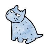 Grumpy cartoon cat Stock Photos