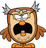 Grumpy Cartoon Owl Stock Photography