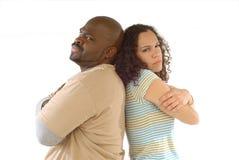 Grumpy couple stock photos