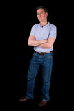 Grumpy Frowning Irritated Man Arms Folded Royalty Free Stock Image