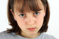 Grumpy girl Royalty Free Stock Photos