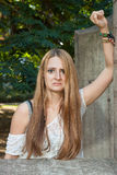 Grumpy Girl stock photos