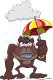 Grumpy Gorilla Cartoon Stock Images