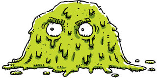 Grumpy Green Blob Stock Photo