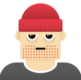 Grumpy guy illustration Stock Image