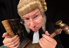 Grumpy judge Stock Photo