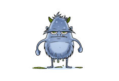 The grumpy leakage monster. Vector Illustration. Isolated on white background Royalty Free Stock Photos