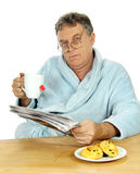 Grumpy Middle Aged Man Stock Photography