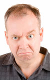 Grumpy Middle Aged Man Royalty Free Stock Images