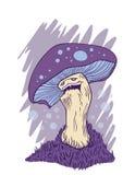 Grumpy mushroom Royalty Free Stock Images
