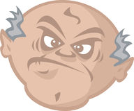 Grumpy old man royalty free illustration