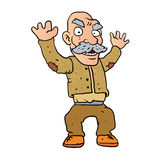 Grumpy old man cartoon Stock Images