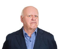Grumpy old man Stock Images