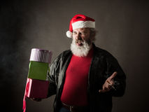 Grumpy Santa Claus Stock Photography