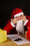 Grumpy Santa Royalty Free Stock Photo